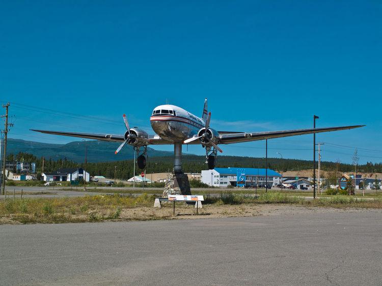 Douglas DC-3 at Yukon Transportation Museum, Whitehorse Airplane DC-3 Douglas Flying Mode Of Transport Plane Transportation