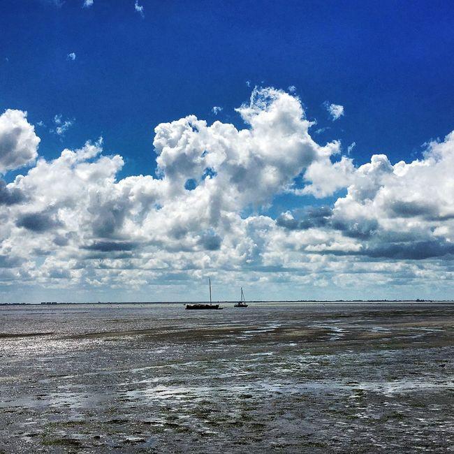 Schiermonnikoog Island Wadden Sea Waddenzee Sky Skyporn Sky And Clouds Dutch Skies