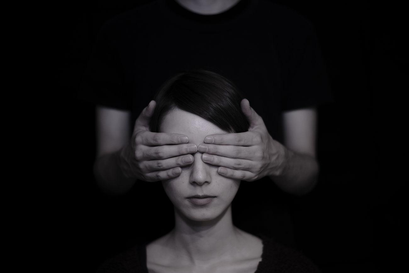 blindness Blackandwhite Fine Art Fine Art Photography Monochrome Portrait Portrait Of A Woman Studio Shot Surrealism First Eyeem Photo