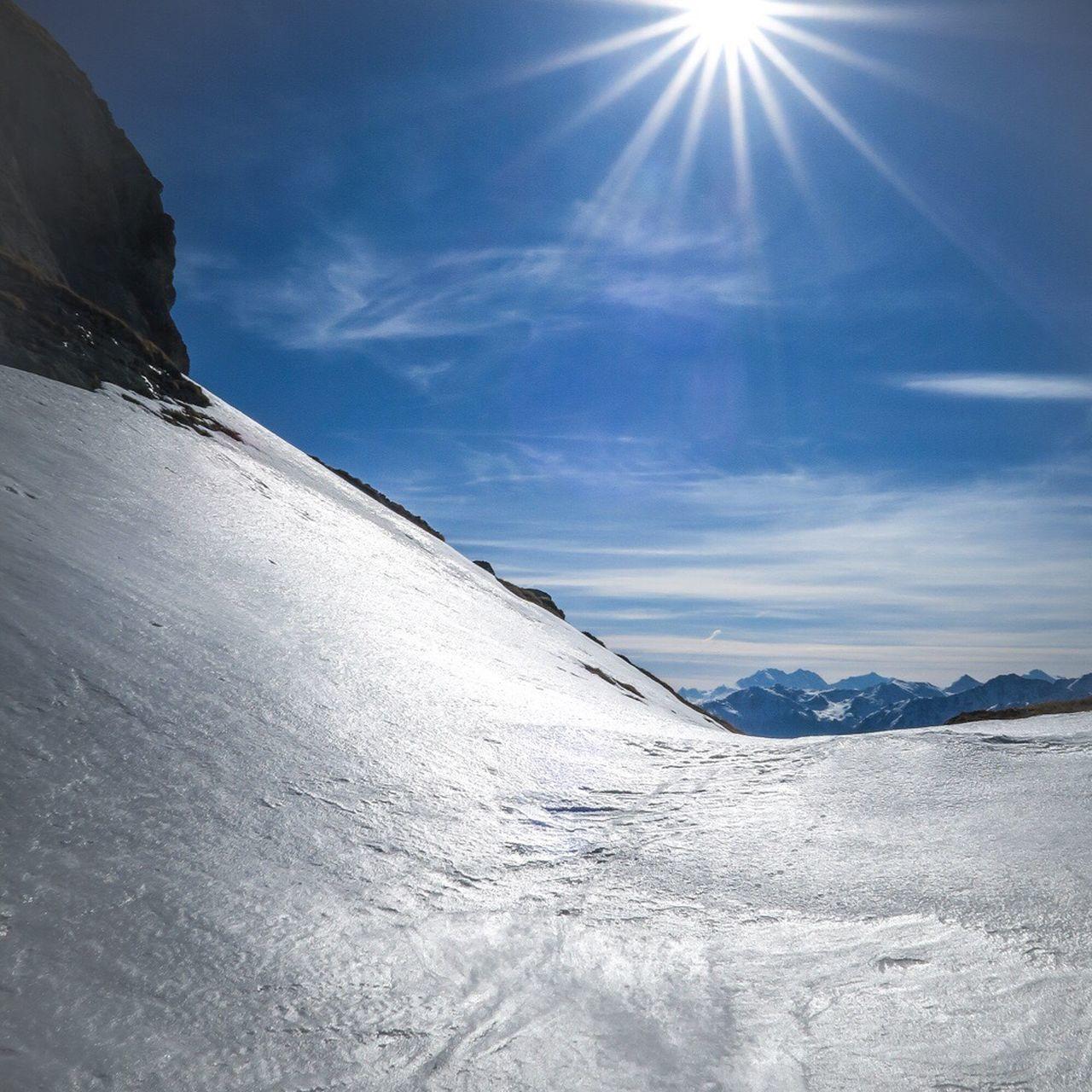 Snow Covered Backlit Snow Alpine Alpen Alpinism Skiing Sun Sunburst High Altitude Cransmontana CMA Mycma Swiss Alps Switzerland Swiss Schweiz