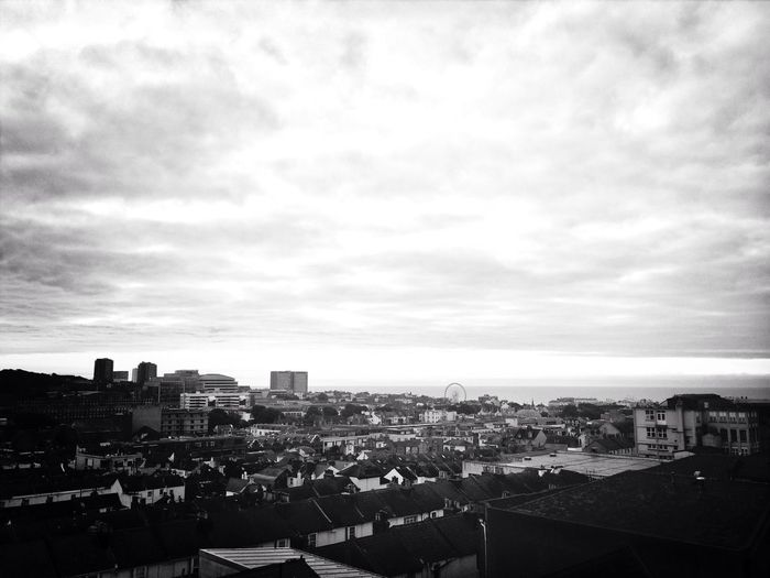 Morning Brighton Rooftop Monochrome