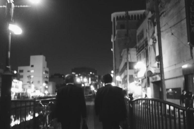 Japan Photos Blackandwhite Bnw Streetphotography Nightphotography Salaryman Afterwork Ultimate Japan Returning Home Silhouette Taking Photos Snapshot Streamzoofamily Black And White Friday