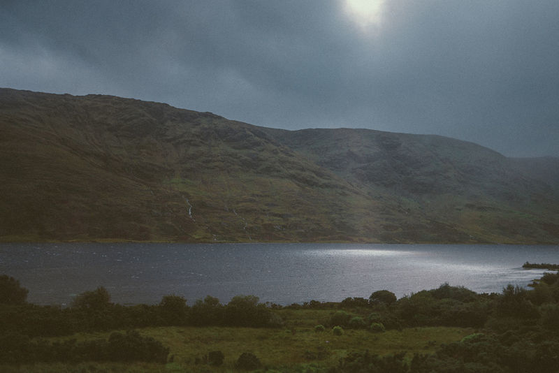 Beauty In Nature Cloudy Sky Connemara National Park Day Galway,ireland Grass Idyllic Lake Landscape Mountain Mountain Range Nature No People Outdoors Scenics Sky Sun Patch Tranquil Scene Tranquility Tree Water