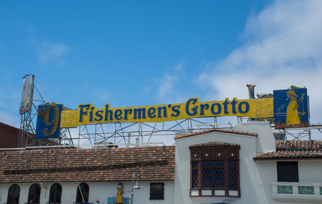 Fisherman's Grotto in San Francisco on a Clear Day Architecture Clouds Dinner Fishermanswharf Lunch Restaurant Sanfrancisco Seafood