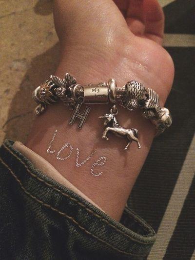 Pandora Unicorn Pandora Bracelet  Love Flesh Tattoos Temporary Tattoo Silver  Jewelry Things I Like