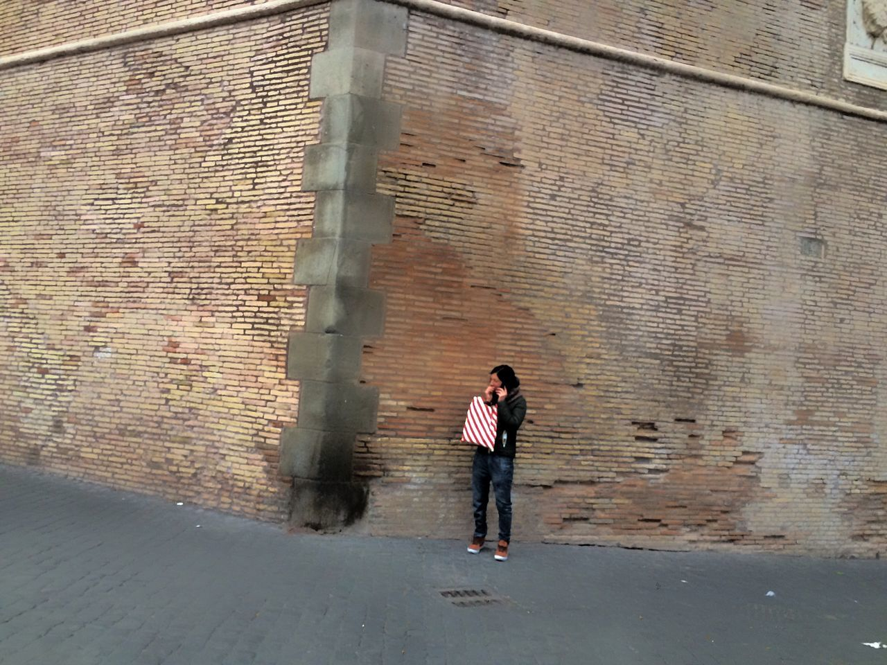 Full Length Brick Wall Casual Clothing City Walking Outdoors Building Exterior Architecture Built Structure Leisure Activity Day Two People Young Adult Motion Adults Only Real People People Modern Young Women Adult Streetphotography