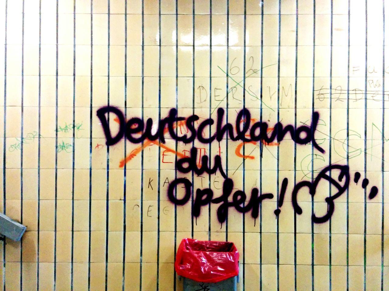 Graffiti Trainstation Vandalism Fuck Germany Still Not Loving Germany