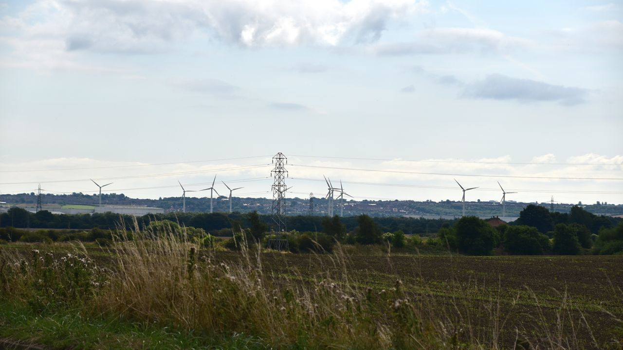 Taking Photos Pylons And Powerlines Wind Turbines Countryside Nikon D5500