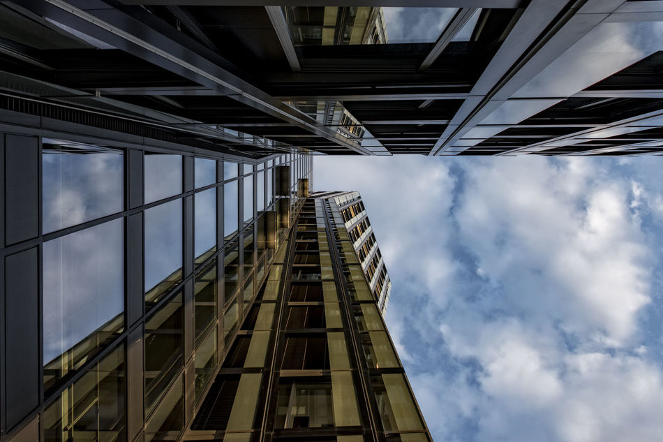 dancing towers Architecture Building Exterior Built Structure Cloud - Sky Dancing Towers/St. Pauli Day Germany Low Angle View Modern Architecture No People Outdoors Reeperbahn  Sky Teherani Building