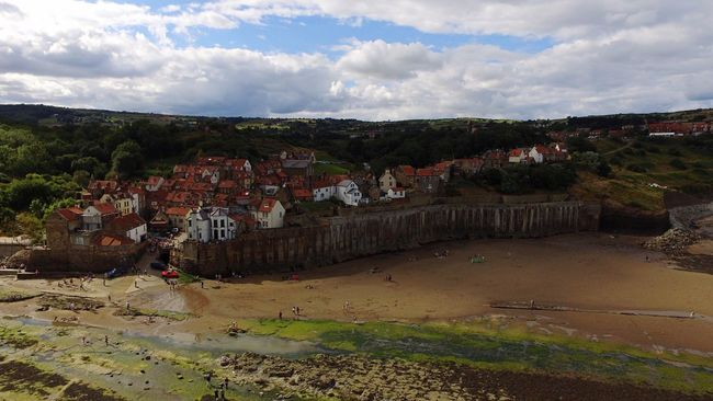 Architecture Seaside Village Robinhoods Bay Residential Structure House Residential Building Residential District High Angle View Town Crowded TOWNSCAPE Cloud - Sky Sky City Community Human Settlement Cloudy Water Cloud Day Seaside Seaview Sea A Bird's Eye View Drone