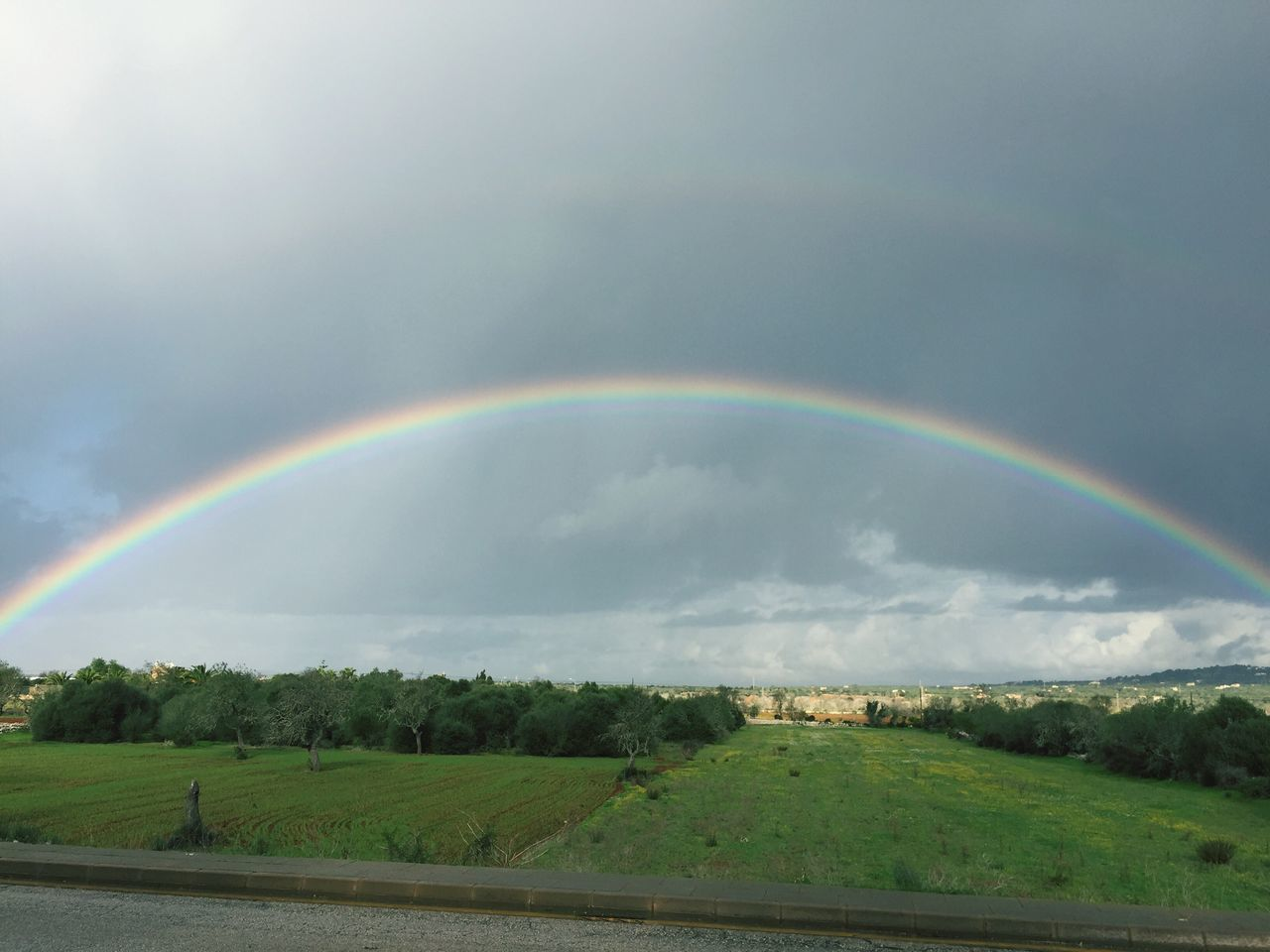 Stunning full Rainbow Beauty In Nature Happiness♥ Make A Wish ! BYOPaper!