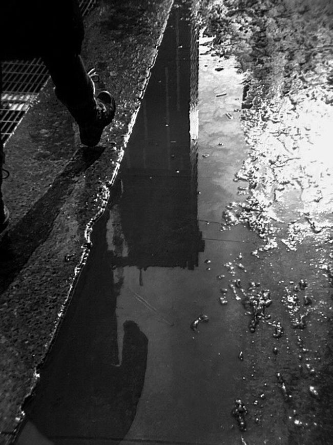 She walks... Photography In Motion Urban Spring Fever Reflection Bw_collection Eye4photography  Blackandwhite EyeEm Best Shots AMPt_community EE_Daily: Black And White Shootermag EyeEm Gallery EyeEmBestPics Showcase March From My Point Of View Bw_lover EyeEm_crew Capture The Moment Water_collection Monochrome Inspirations Everywhere. Eye4black&white  B&w Street Photography Streetphoto_bw Streetphotography IPhoneography