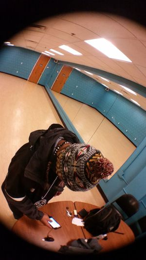 Chillin looking for a song to rock to. Me Lovethishat Fisheye Lens Like