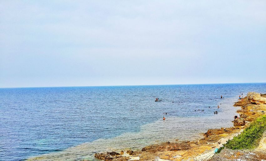 Swimming time ! 🏄🏊 Sea Beach Beauty In Nature Blue Nature Sky Calm Tranquility