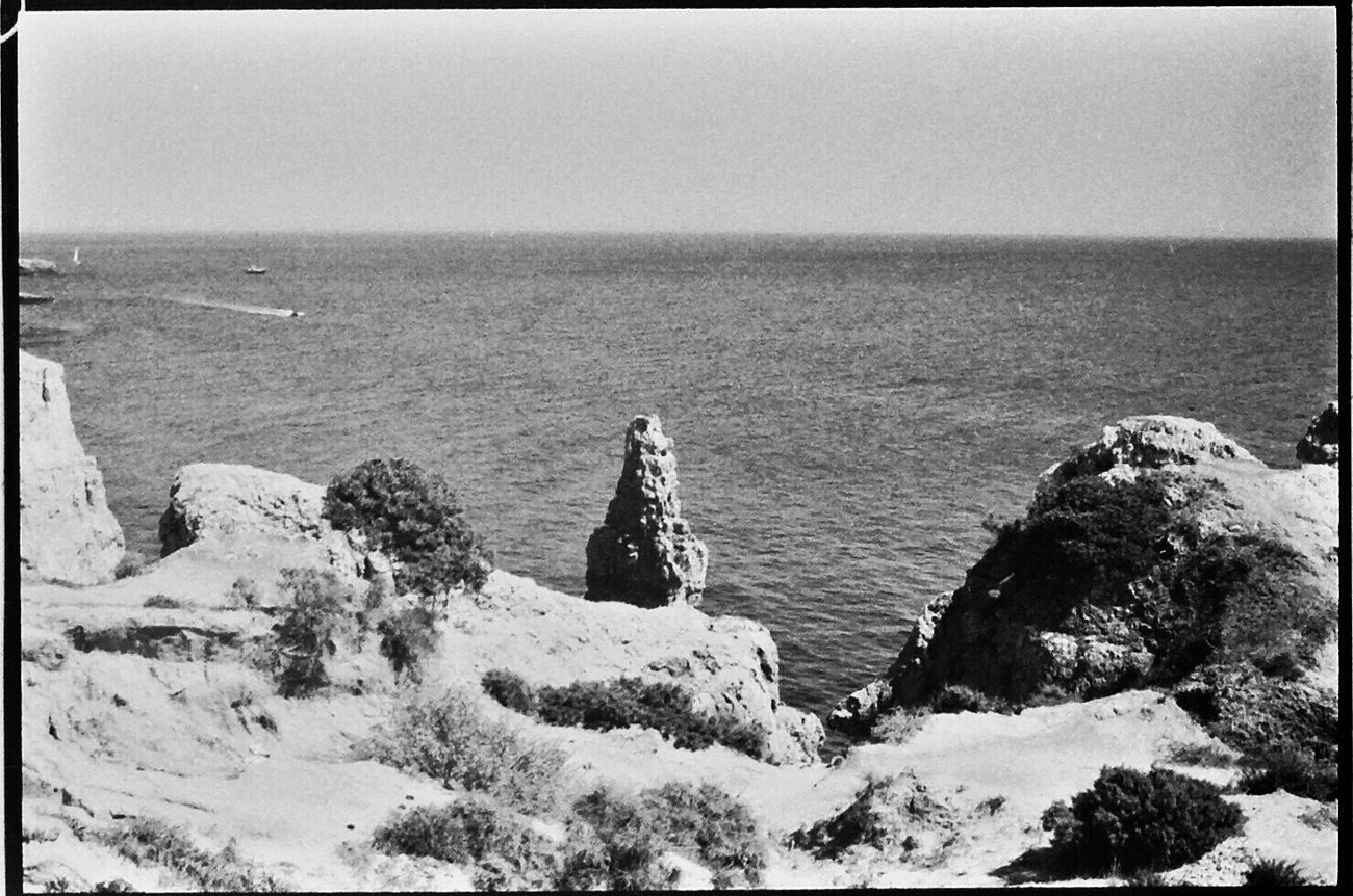 Tranquility Tranquil Scene Rock - Object Portugal Koduckgirl Nikon FE Rock Formation 1980s