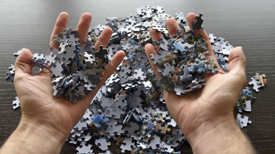 Beautiful stock photos of puzzle,  Cropped,  Day,  High Angle View,  Holding