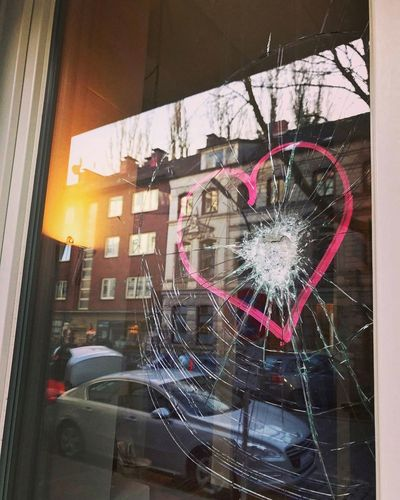 Window Architecture Building Exterior No People Outdoors Built Structure Day Love Hate Love Heart Broken Window Windows Vandalism Make Love Not War Love Trumps Hate Love Is In The Air Hamburg Sternschanze Schanzenpark BYOPaper! The Street Photographer - 2017 EyeEm Awards