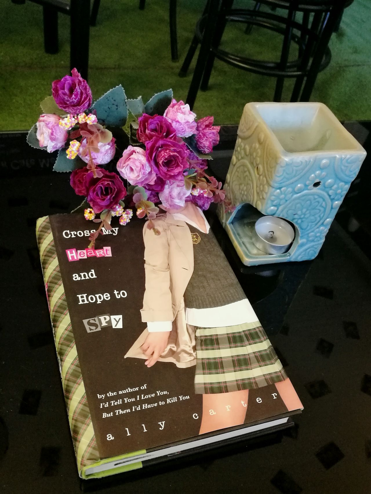 Some interested things at my coffee shop Booklover Flower Collection Scented Candle