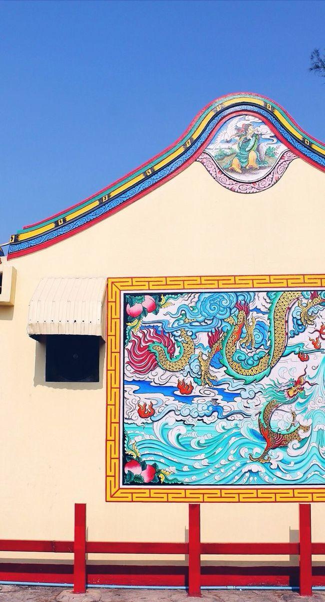 Colourful Mural Temple Thailand Hua Hin Color