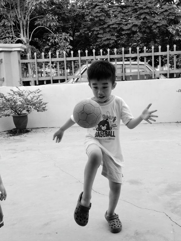Child Childhood One Person Playing Outdoors Full Length Soccer Training The Portraitist - 2017 EyeEm Awards The Photojournalist - 2017 EyeEm Awards