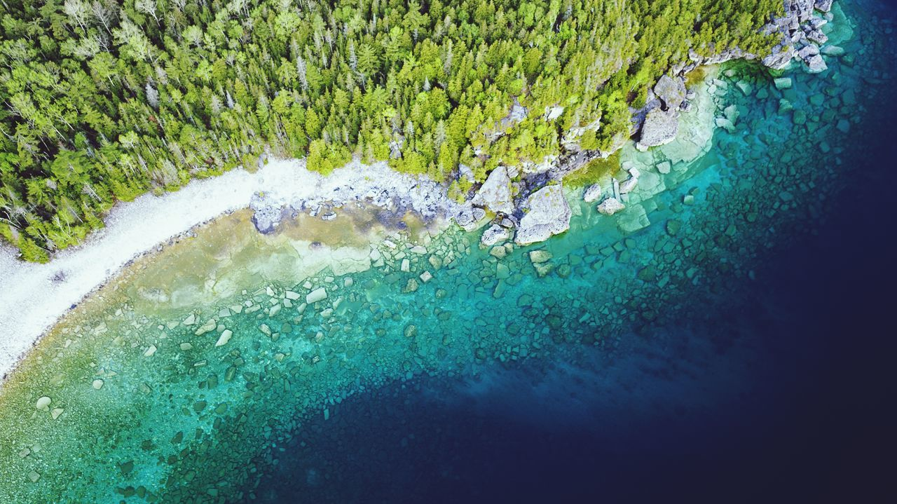 Water High Angle View Day Nature Outdoors Beauty In Nature Multi Colored Stone Geology Sea Aerial View Rock Drone  Flying Shoreline Coastal Beach Lake The Great Outdoors - 2017 EyeEm Awards