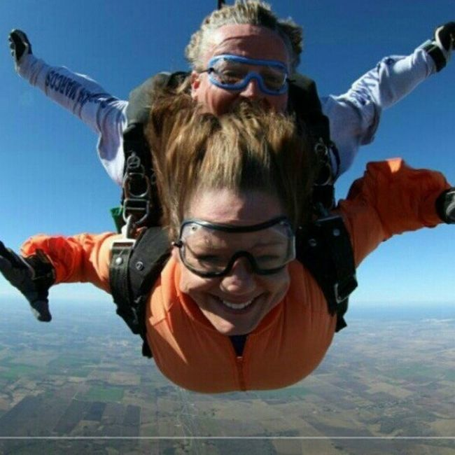 Me skydiving