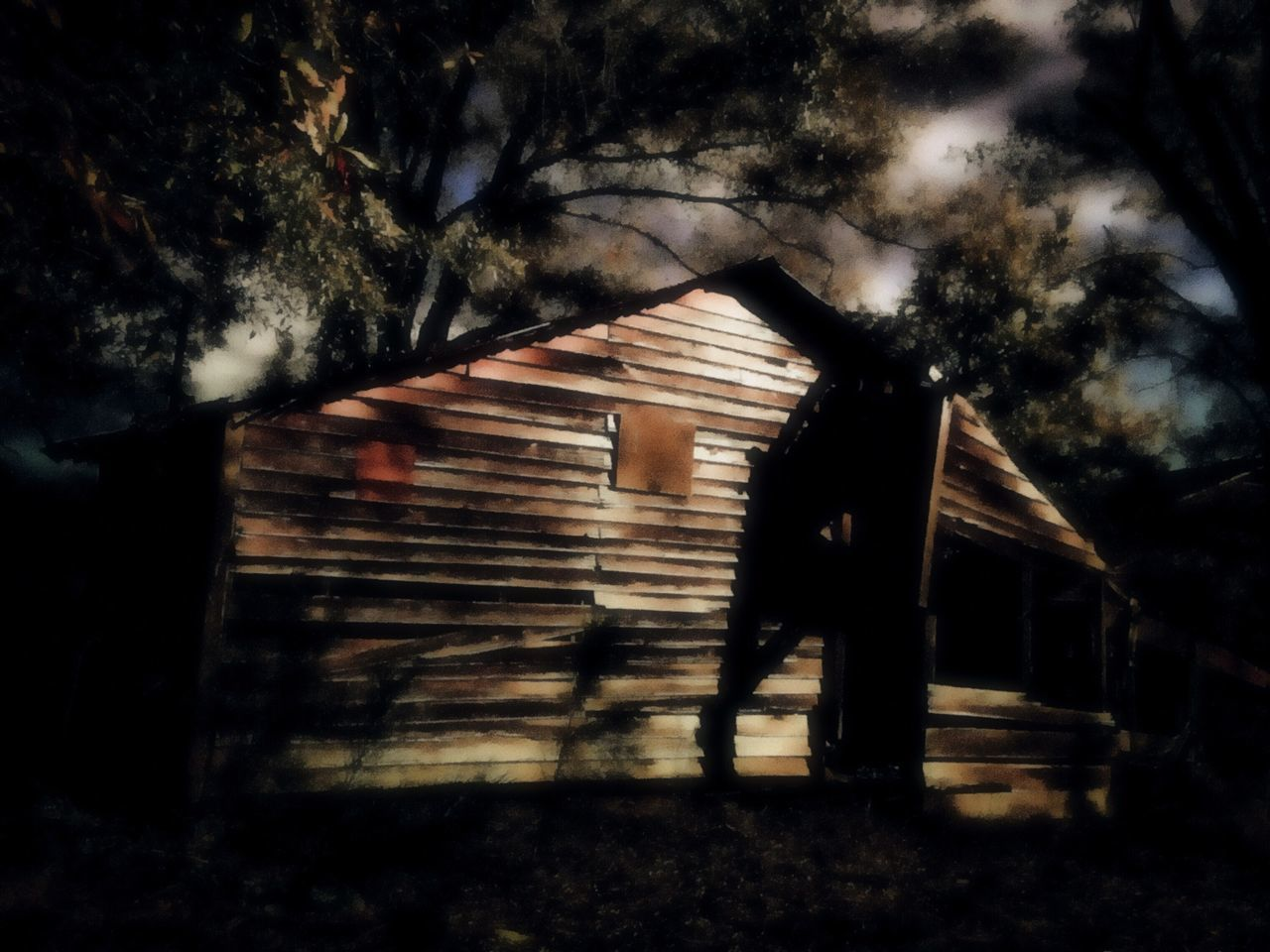 They say nothing good ever happens after midnight. I vehemently disagree.😉😈 Night Moon Moonlight Mischievous Tree Barn Outdoors Nature Light And Shadow Peace And Quiet Walking Around Tranquility Taking Photos Relaxing Abandoned Looking For Trouble Built Structure Building Exterior Tree