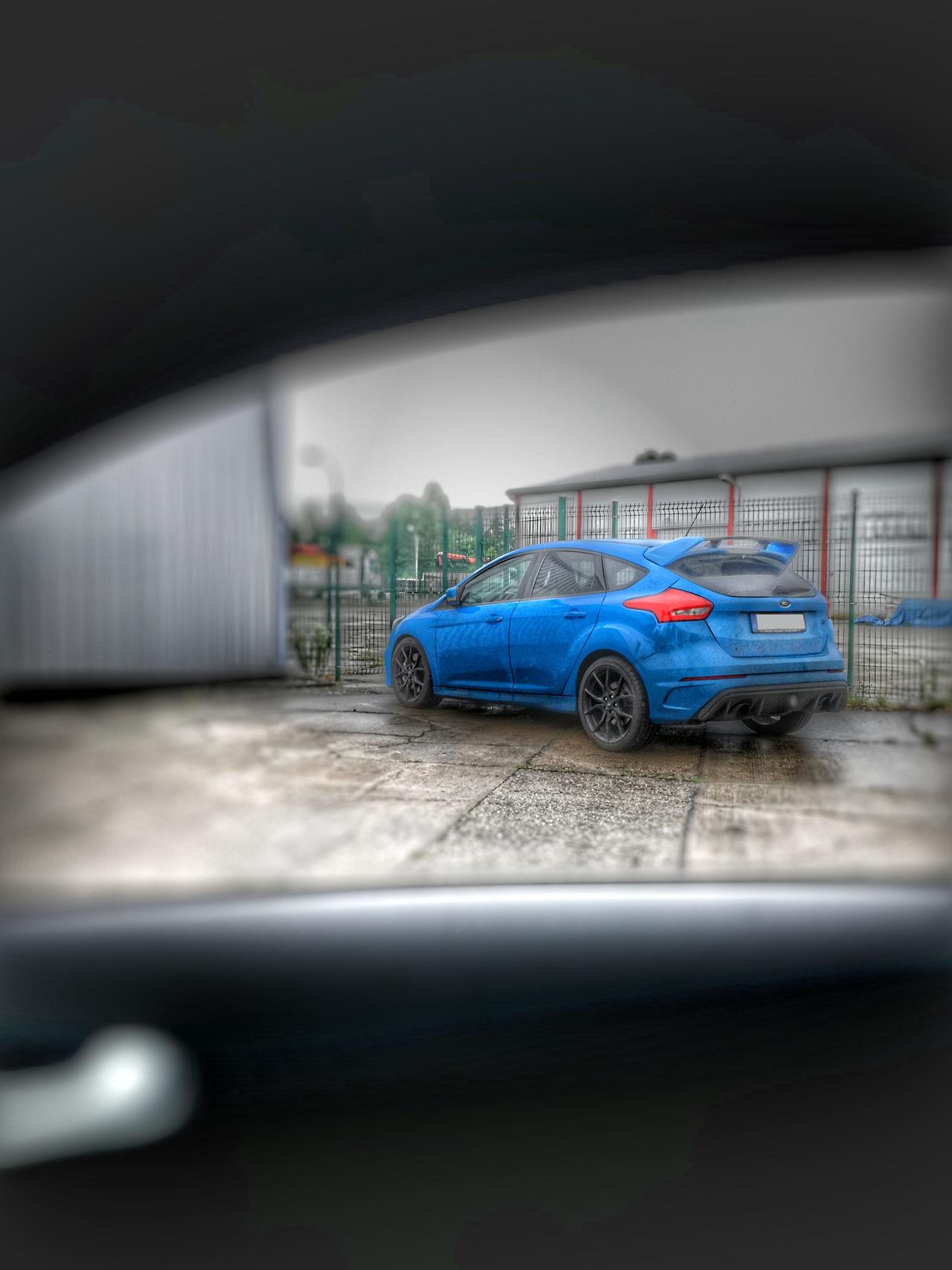 Car City Street Blue Outdoors Day Parking Garage Spraying No People Water Destruction Regen Ford Focus Rs Mk3 Will Ich Haben GERMANY🇩🇪DEUTSCHERLAND@ P9lite