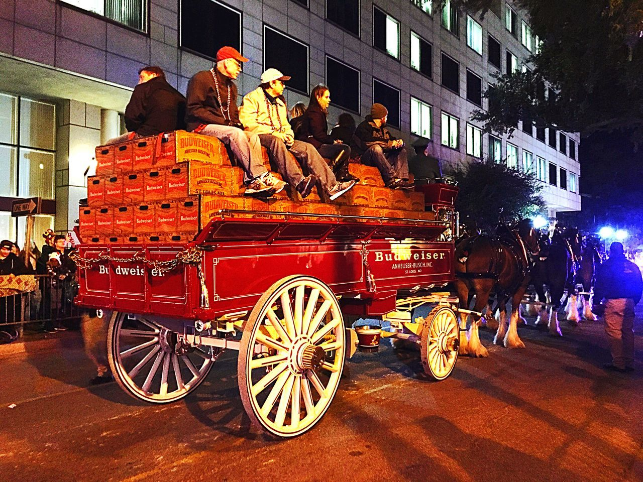 Downtown Mobile 🎭 Mardi Gras 2016. Colors Of Carnival The Tourist Showcase: February Let The Parade Began 🎭 People On Float Throwing Trinkets 🎭🎭 Having Fun :)