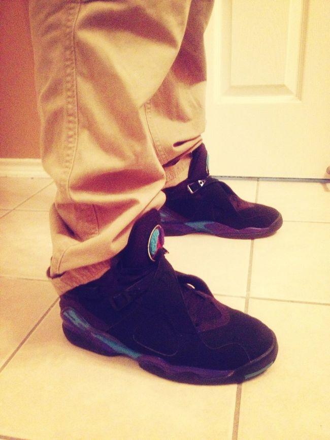My Favorite Shoe . Aqua 8's