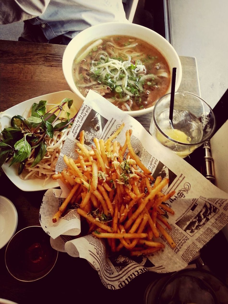 Pho with a side if French Fries
