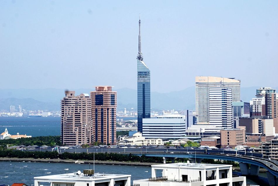 Fukuoka,Japan Fukuoka City  Fukuoka Tower Sea And Sky Sea View Sky_collection Skylovers Blue Sky Blue Sea Looking At Camera