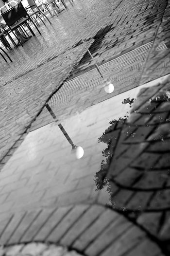 lamp reflections Vacation Holiday Family Photography Reflections Close Monochrone Blackandwhite Rest Bnw Sony Monochrome Day Outdoors Low Angle View Built Structure No People Architecture