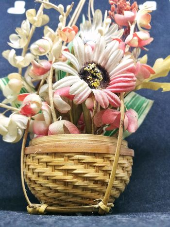 Basket Of Flowers 🌷 Flower Freshness Indoors  Close-up Basket No People Table day