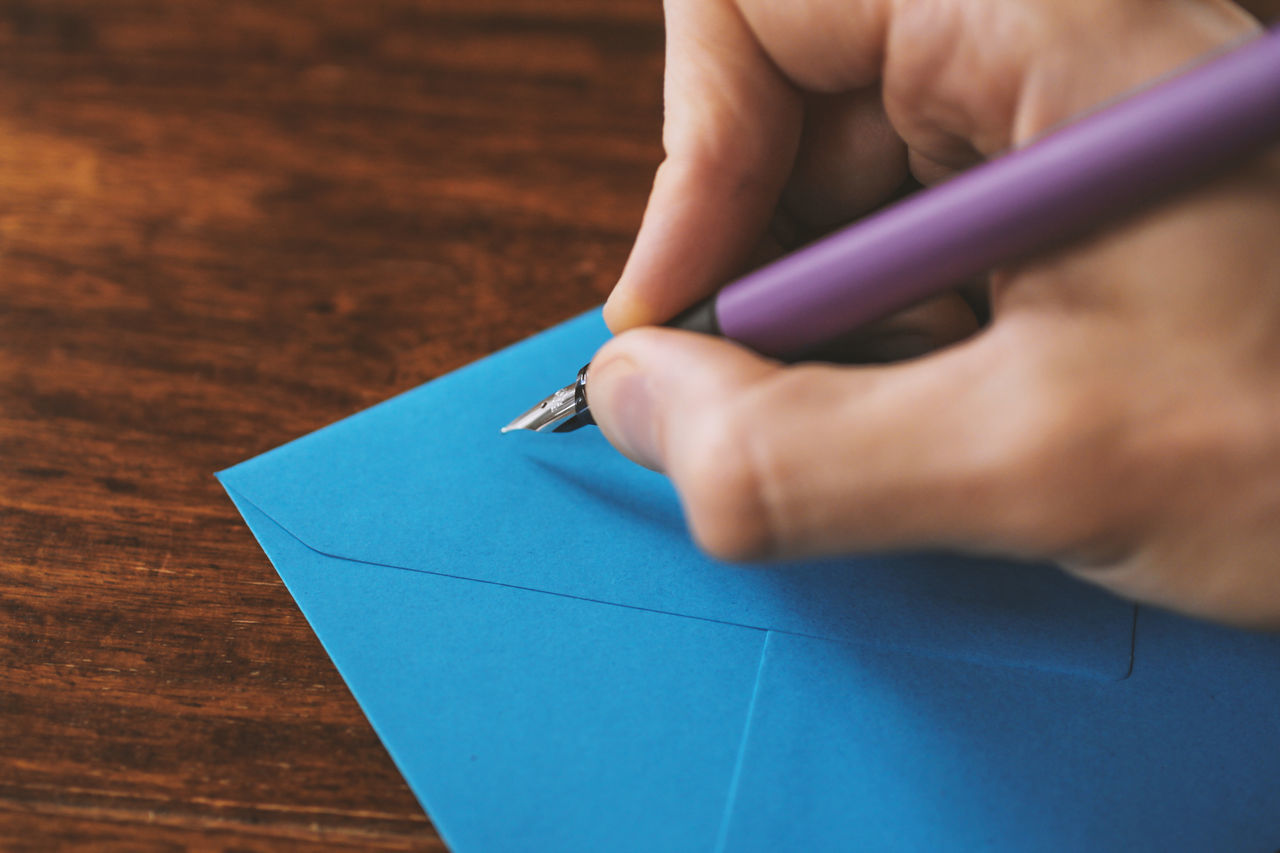 Beautiful stock photos of envelope, Blue, Brown, Close-Up, Cropped