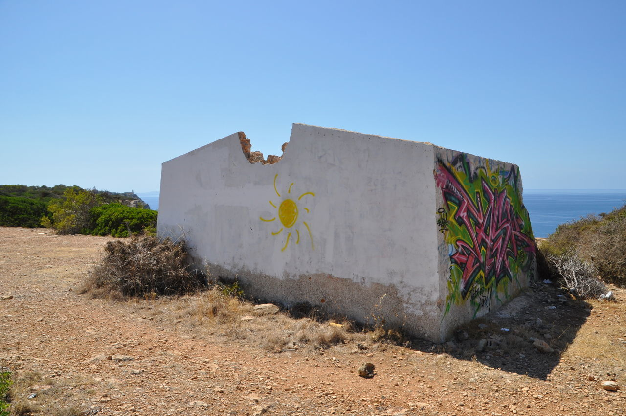 Leftover of a house on the edge of a cliff, Old House On A Cliff Cliffside Leftover Of A House Old House On A Cliff Traveling Blue Sea And Cliffs Hidden Gems  Travel Coast Line  Cliffs Coastline Landscape Less Is More Graffiti Art Coastline Mallorca Simplicity Coast Tranquility Blue Ocean Travel Photography Relaxing Vacation Picture Perfect Enjoying Life Cliff