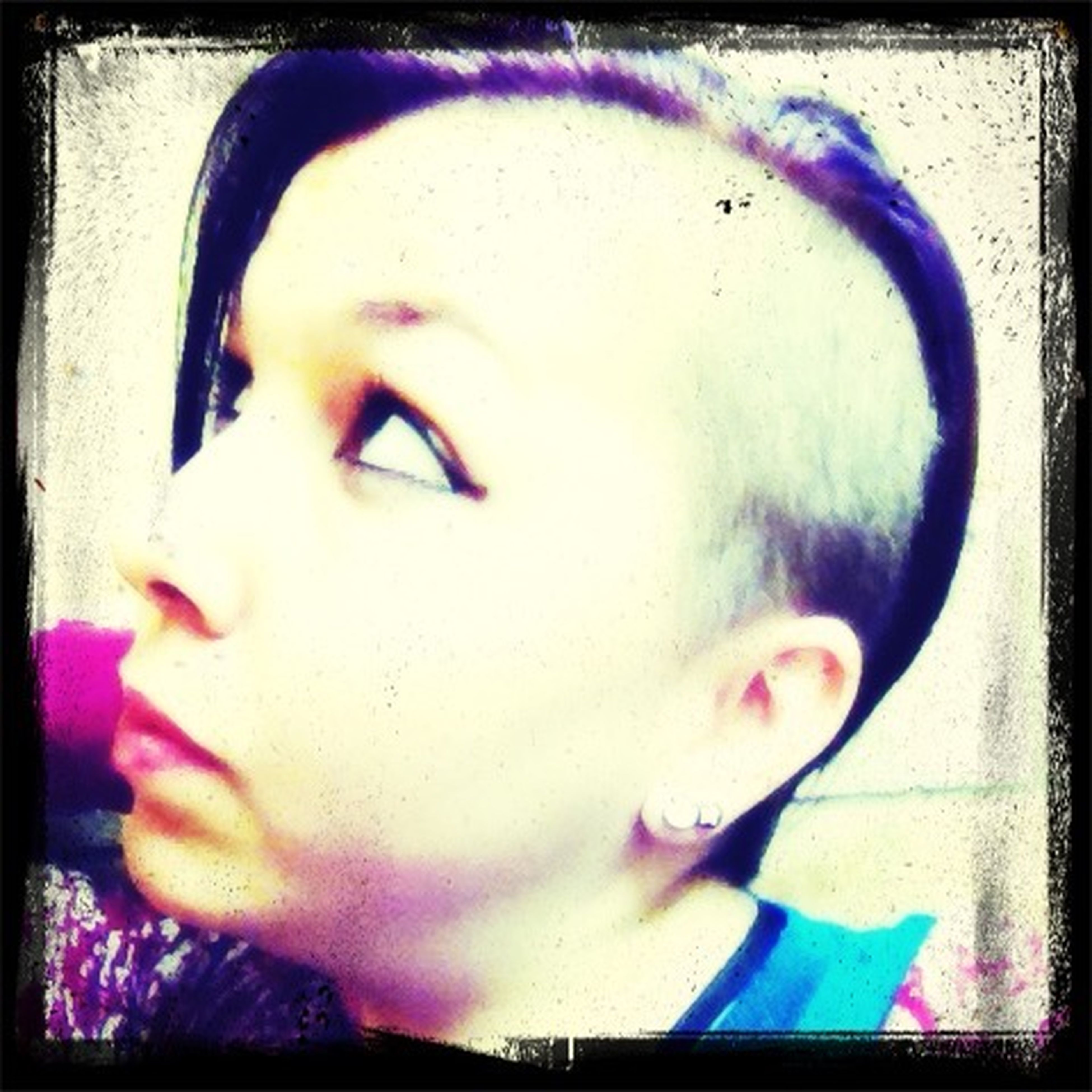 Purple Mohawk Girlswithshavedheads Be Different Express Yourself