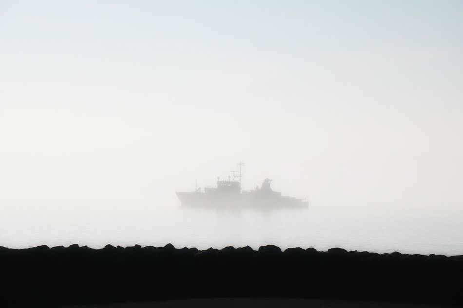 Foggy Weather Foggy Morning Ship In The Fog Capture The Moment Ship Foggy Njarðvik Morning Fog...