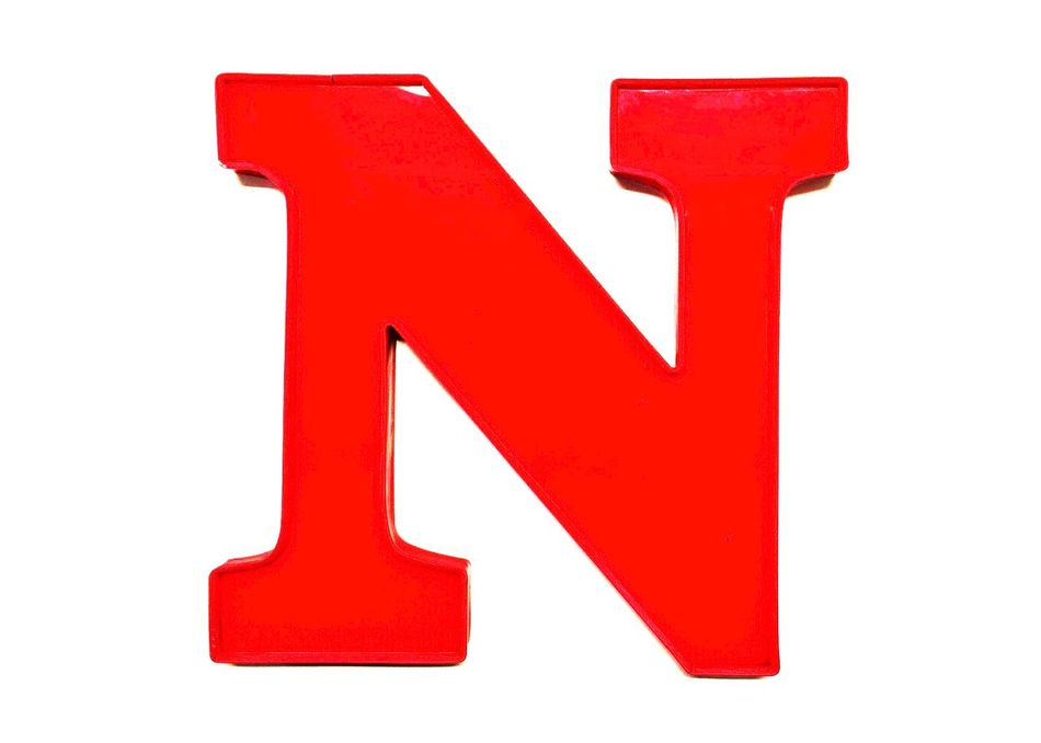Art And Craft Capital Letter Close-up Communication Composition Creativity Directly Above Guidance Information Negative Space No People Part Of Plastic Red Red Letters Red N Sign Single Object Still Life Symbol White Background