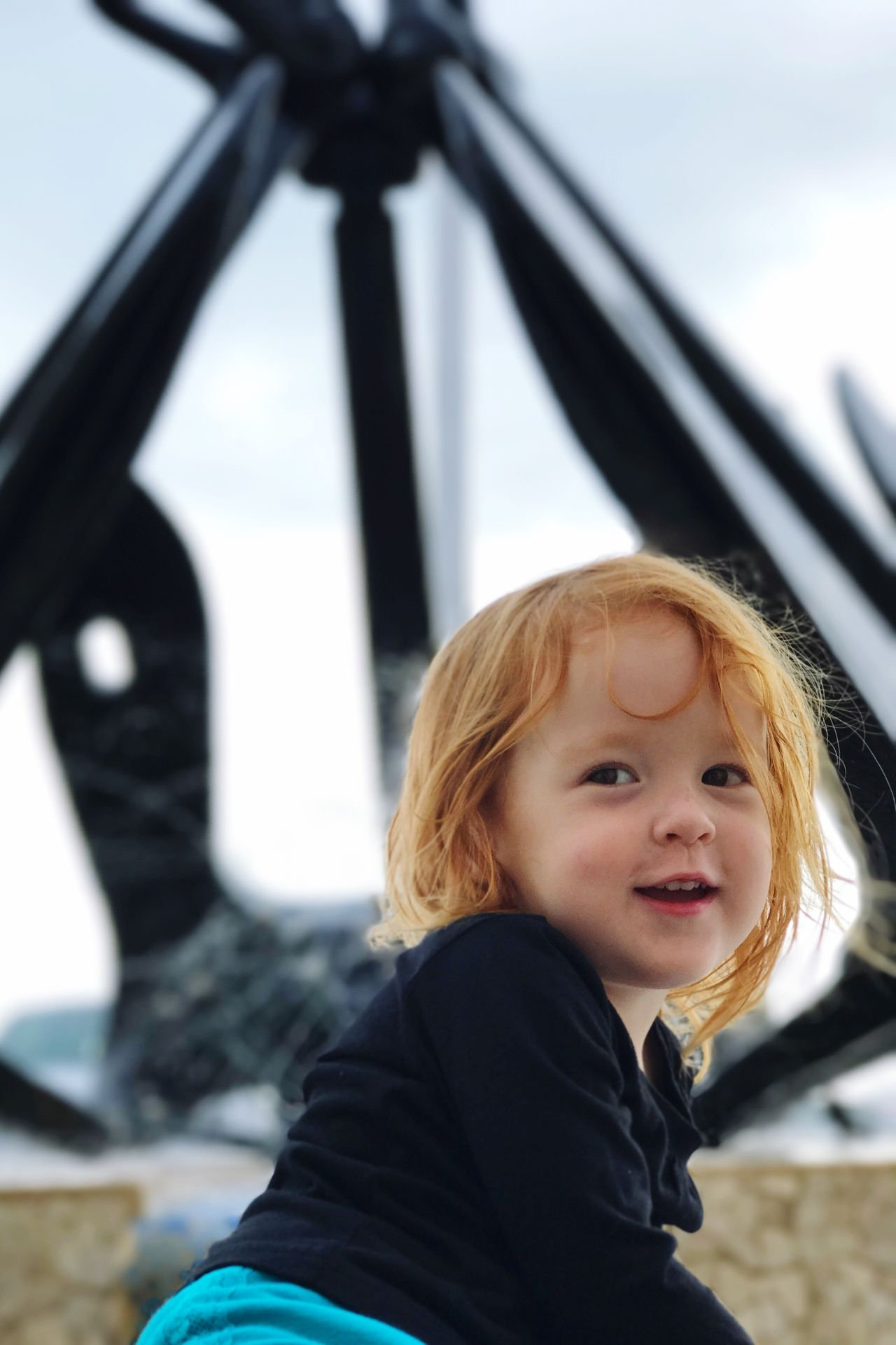 Fountain Fun Bermuda Dockyard Toddlerlife Redhead Daddydaughtertime Headshot One Person Lifestyles Real People Childhood Day Close-up People