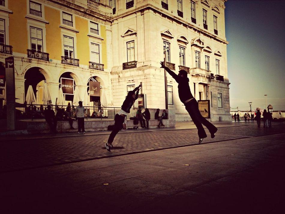 Silhouette Jumping Ninjas  EyeEm Lisbon Masterclass 2013