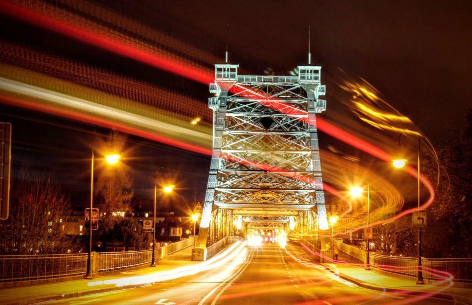 Hanging Out Bridge Dresden Taking Photos Blue Wonder Blaues Wunder  Blaueswunder Loschwitz Fire Lights Cities At Night
