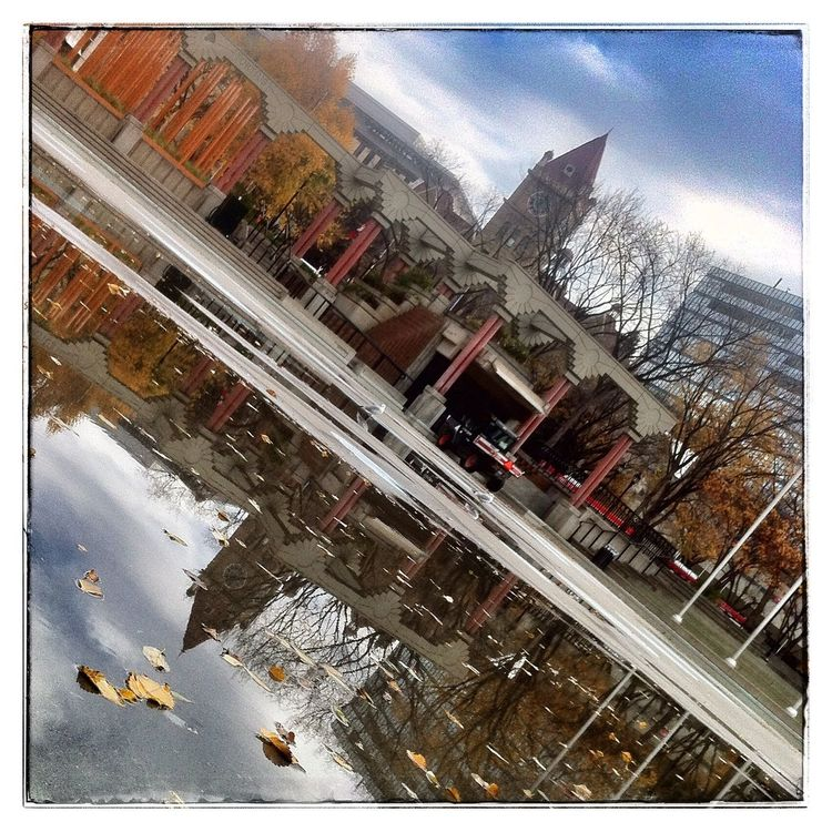 Reflection of old City Hall. Photography IPhoneography Reflection YYC
