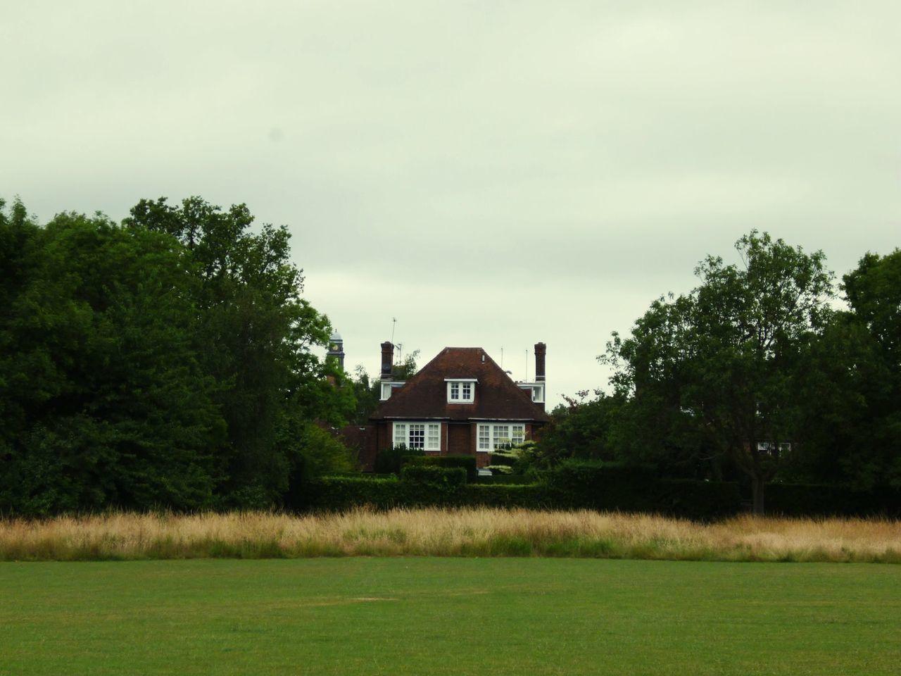 'Proper' Hampstead Heath Grass Field House Symmetry Sky -- B