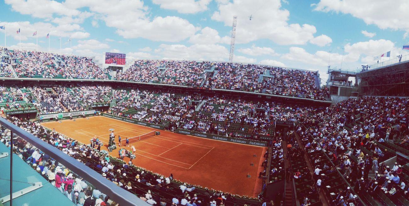C'est bon d'y être. ROLAND GARROS Tennis France Inlive