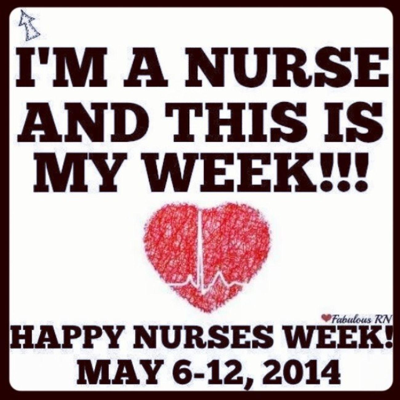 Happy Nurses week colleagues. RNS Nursesweek