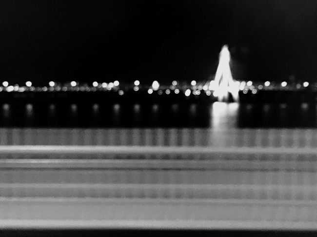 View City Life Tired Subway On The Way Home Across The River Across The Bridge Night Lights After School