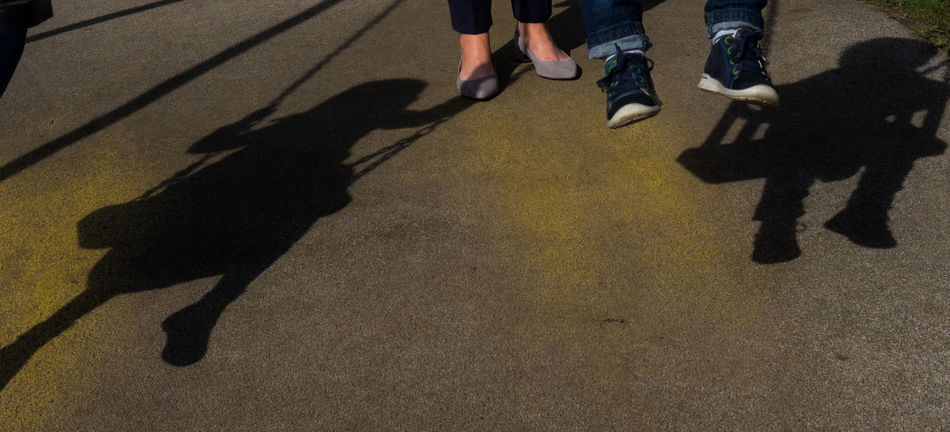 Shadow Shoe Adult Children Photography Day Focus On Shadow High Angle View Human Leg Leisure Activity Lifestyles Low Section Medium Group Of People Outdoors People Real People Shadow Sunlight Togetherness Women