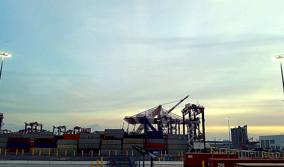 Sky No People Business Finance And Industry 2016 Harbor View Port Portview Port Of Los Angeles California Capture The Moment Cranespotting Outdoors Rollercoaster Amusement Park Day