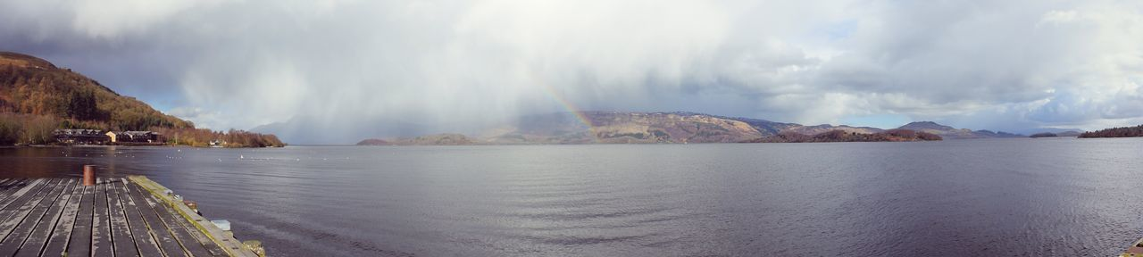 Beauty In Nature Cloud - Sky Countryside Day Dock Lake Loch  LochLomond Mountain Nature No People Outdoors Rainbow Scenics Sky Sunshine Travel Destinations View Water